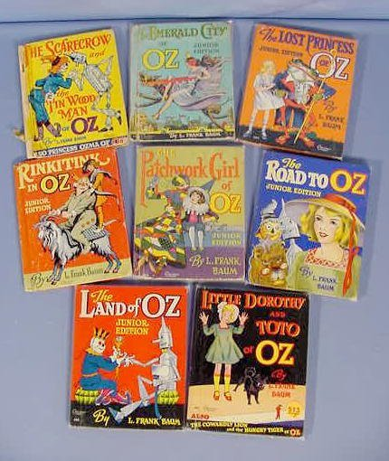 513: 8 1930's Rand McNally Wizard of Oz Books NR