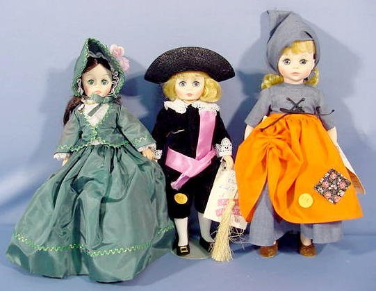 518: 3 Madame Alexander Dolls: Cinderella & Others NR