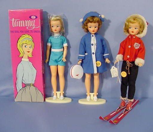 520: 3 Ideal Tammy Dolls: One In Original Box NR