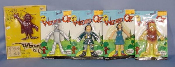 524: 5 Wizard of Oz Collectibles: Bendable Rubber NR