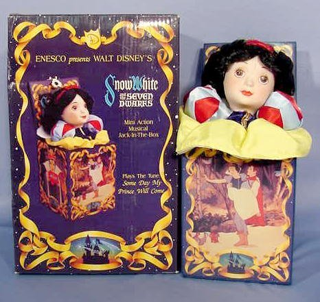 526: Enesco Snow White Musical Jack-In-The-Box NR