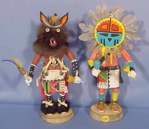 540: 2 Kachina Dolls by E.M. Livingston NR