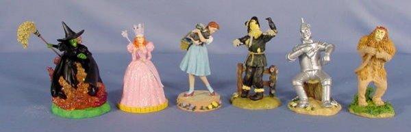 554: 6 Enesco Wizard of Oz Figurines, Main Characters