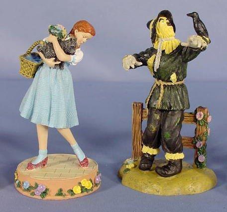 554: 6 Enesco Wizard of Oz Figurines, Main Characters - 3