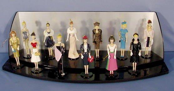 555: 12 Ashton Drake Barbie Heirloom Ornaments NR