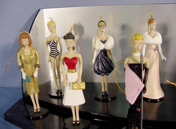 555: 12 Ashton Drake Barbie Heirloom Ornaments NR - 2