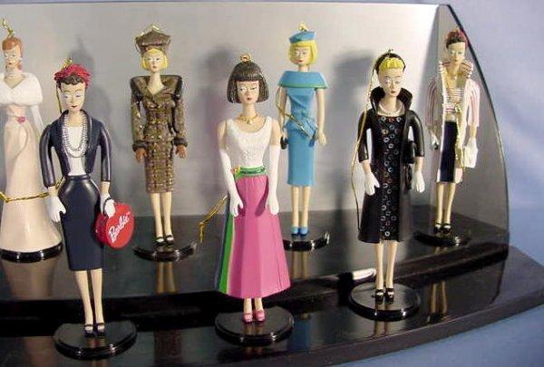 555: 12 Ashton Drake Barbie Heirloom Ornaments NR - 3
