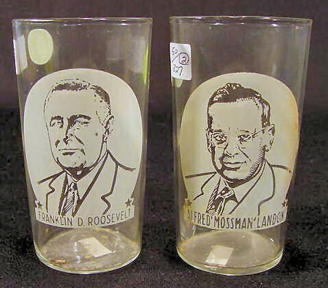9: 2 EAPG Political Campaign Tumblers NR