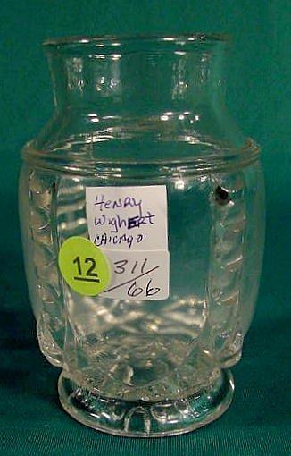 12: EAPG Henry Wighert Advertising Vase NR