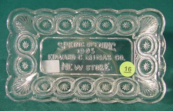 16: Advertising EAPG Dish: 1905 Edward Minas NR
