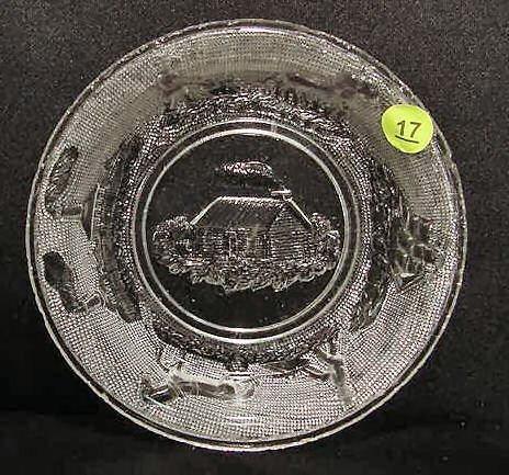 17: Industries Sandwich Glass Bowl NR