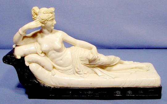 509: Molded Composition Figure of Reclining Woman NR