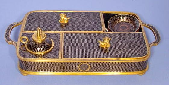 542: Brass and Cloisonne Exotic Smoke Set and Burner