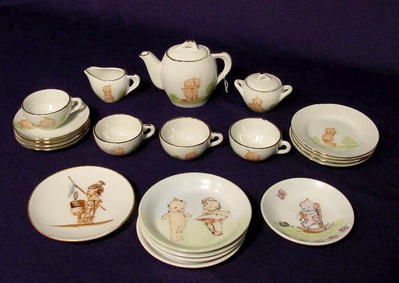 1508: 21 pieces of Kewpie Decorated Child's China NR