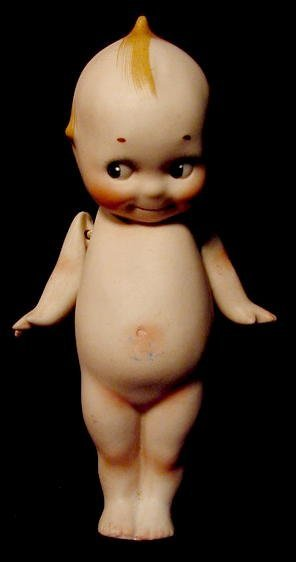 1519: O'Neill Bisque Jointed Kewpie Doll NR