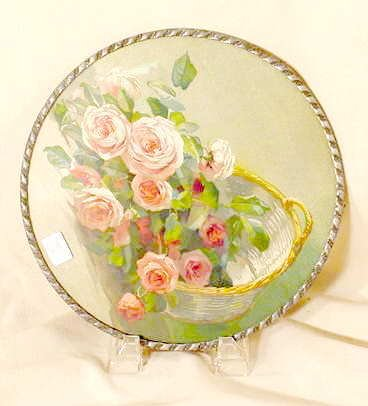 3021: Basket of Roses Made in Germany Flue Cover NR