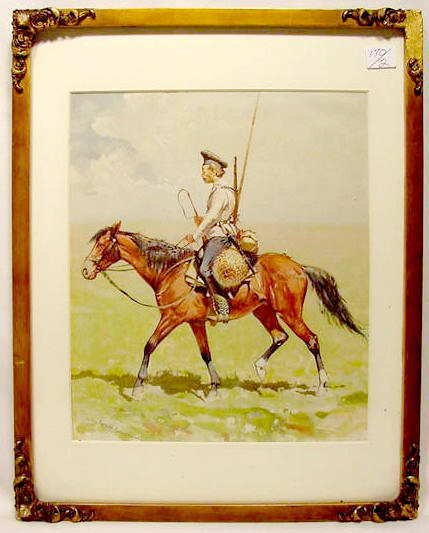 3044: Remington Print of Cossack Soldier NR