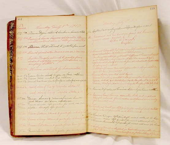 3038: 1917 Handwritten NY Fire Dept. Journal NR