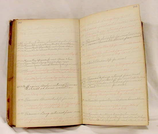 3040: 1918 Handwritten NY Fire Dept. Journal NR
