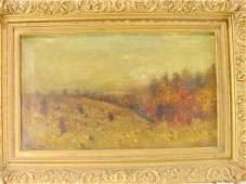 3022: Balmer Oil on Canvas Gesso Victorian Frame NR