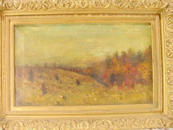 3022: Balmer Oil on Canvas Gesso Victorian Frame NR