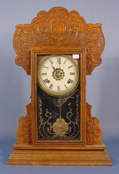1802A: Oak Mantle Clock NR