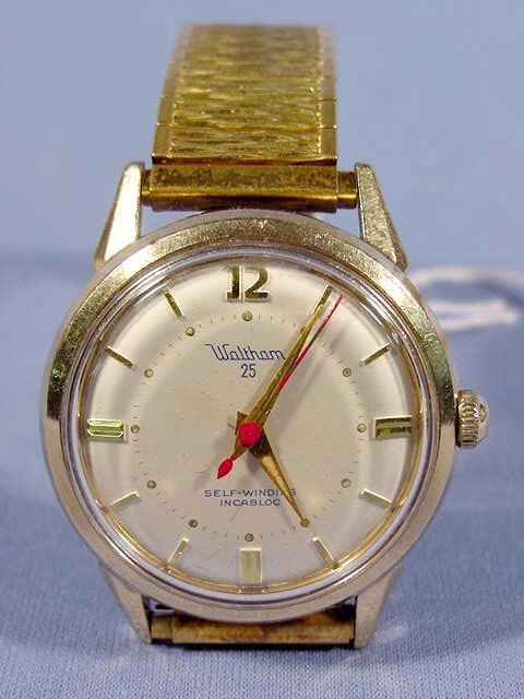 1803A: Waltham 25 Self Winding Incabloc Wrist Watch NR