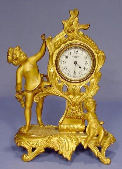 1804A: New Haven Darien Metal Novelty Clock NR