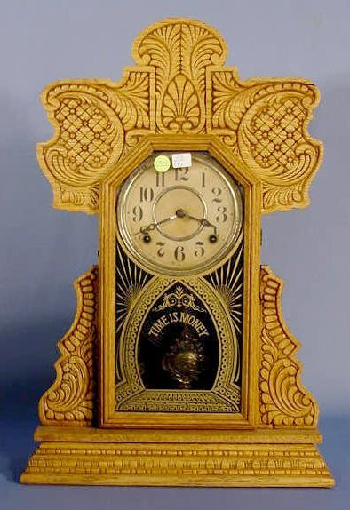 1806A: Ingraham Oak Mantle Clock NR