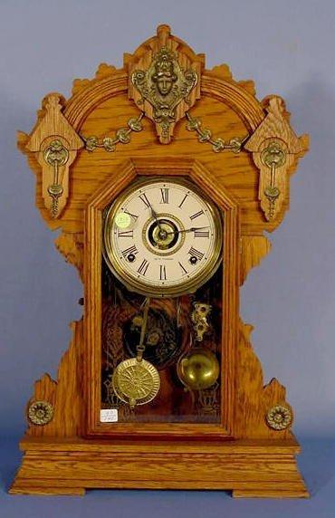 1812A: Seth Thomas Metal Series # 2 1900 Mantle Clock N