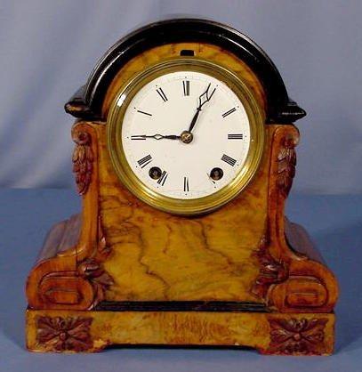 1814A: Seth Thomas & Sons Veneered Wood Mantle Clock NR
