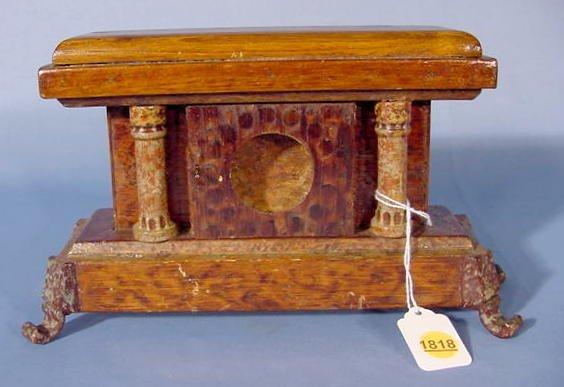 1818A: Old Folk Art Pocket Watch Case NR