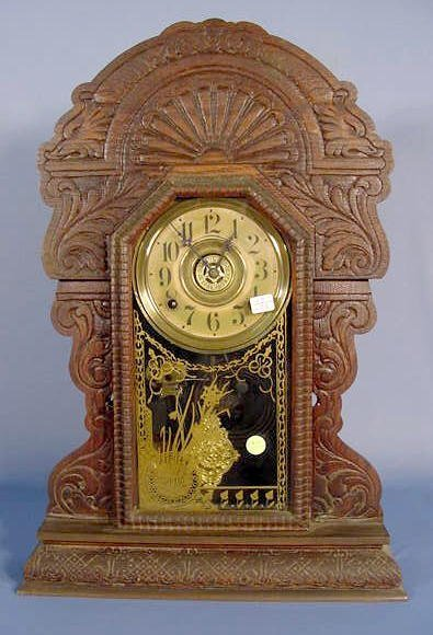 1819A: Sessions Oak Mantle Clock # 345 NR