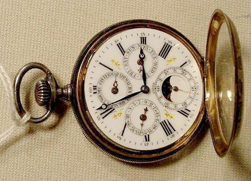 1820A: J. H. Hasler Calendar & Moon Phase Pocket Watch