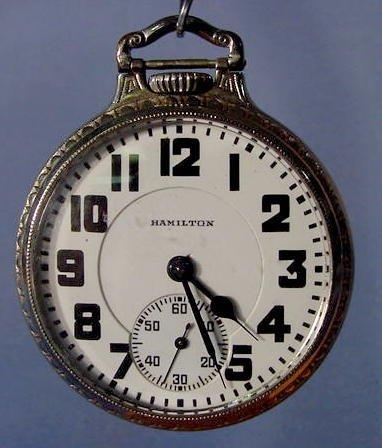 1821A: Hamilton 992 Pocket Watch NR