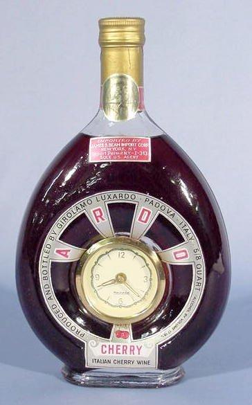 1824: Jim Beam Corp. Wine Bottle German Mercedes Clock
