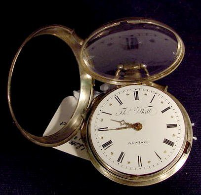 1840: T. Whitt London Pair Case KW Fusee Pocket Watch
