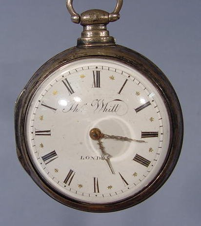 1840: T. Whitt London Pair Case KW Fusee Pocket Watch - 2