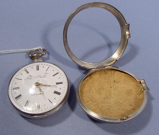 1840: T. Whitt London Pair Case KW Fusee Pocket Watch - 6