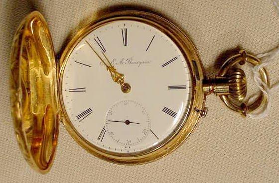 1863: E. & E. A. Bourguin Bienne Pocket Watch NR