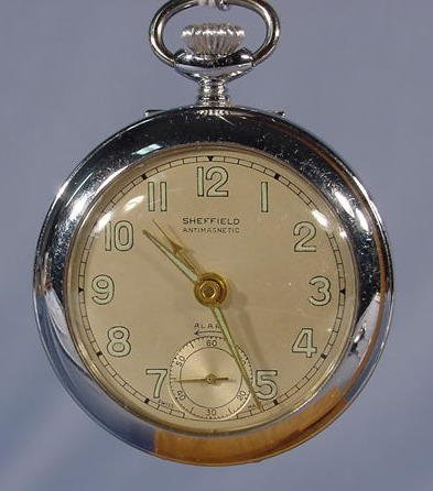 1948: 3 Swiss Alarm Pocket Watches NR - 2