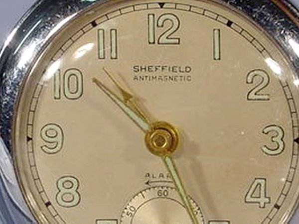 1948: 3 Swiss Alarm Pocket Watches NR - 3