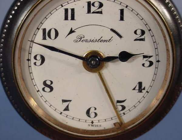 1948: 3 Swiss Alarm Pocket Watches NR - 5