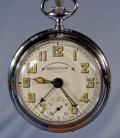 1948: 3 Swiss Alarm Pocket Watches NR - 6