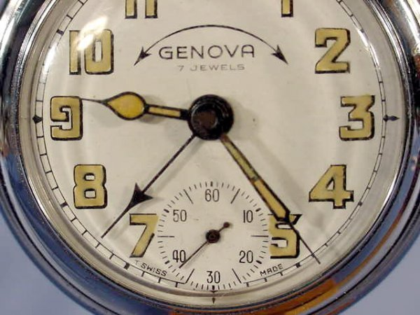 1948: 3 Swiss Alarm Pocket Watches NR - 8