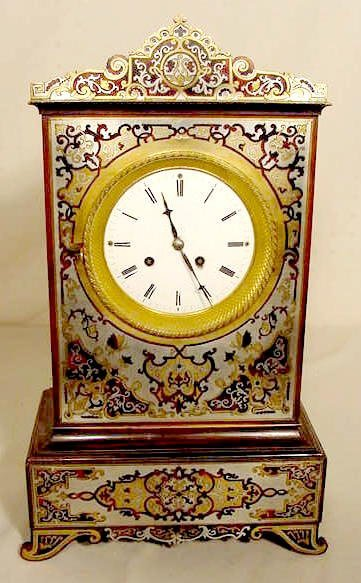 2007: French Boulle Style Inlaid Clock NR
