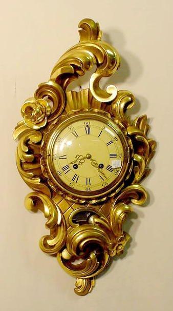 2014: Westerstrand Rococo Gilt Wood Clock NR