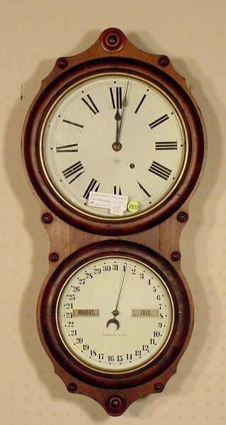 2019: Seth Thomas # 7 Office Calendar Clock NR