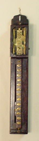 2183: Early Miniature Japanese Pillar Clock NR