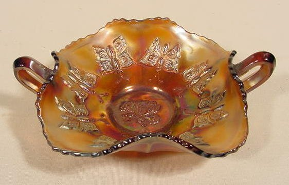 1: Carnival Glass Butterfly Bon Bon NR